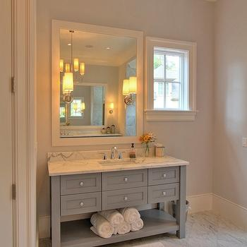 Grey Bathroom, Contemporary, bathroom, Palmetto Cabinet Studio