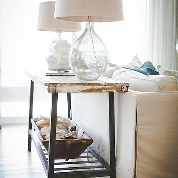Distressed Console Table, Cottage, living room, Ashley Gilbreath