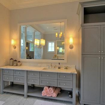 Grey Bathroom Vanity, Contemporary, bathroom, Palmetto Cabinet Studio