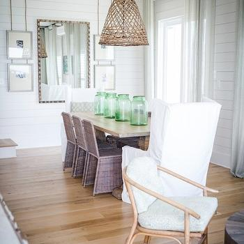 Wicker Dining Chairs, Cottage, dining room, Ashley Gilbreath