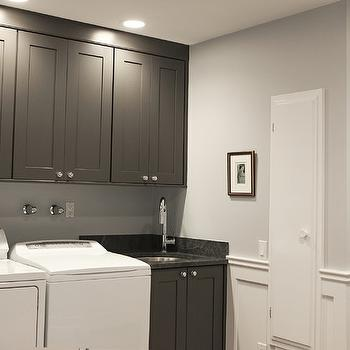 Gray Laundry Room Cabinets, Traditional, laundry room, Debra Kling Colour Consultant