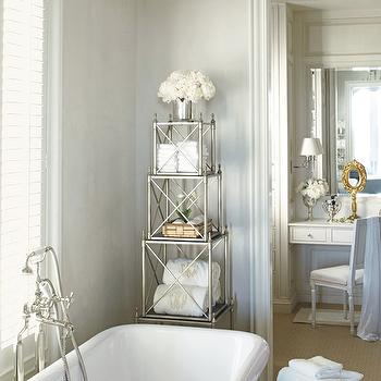 Bathroom Etagere, Traditional, bathroom, Veranda