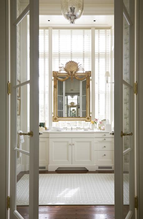 French Doors To Bathroom Traditional Bathroom Miles Redd