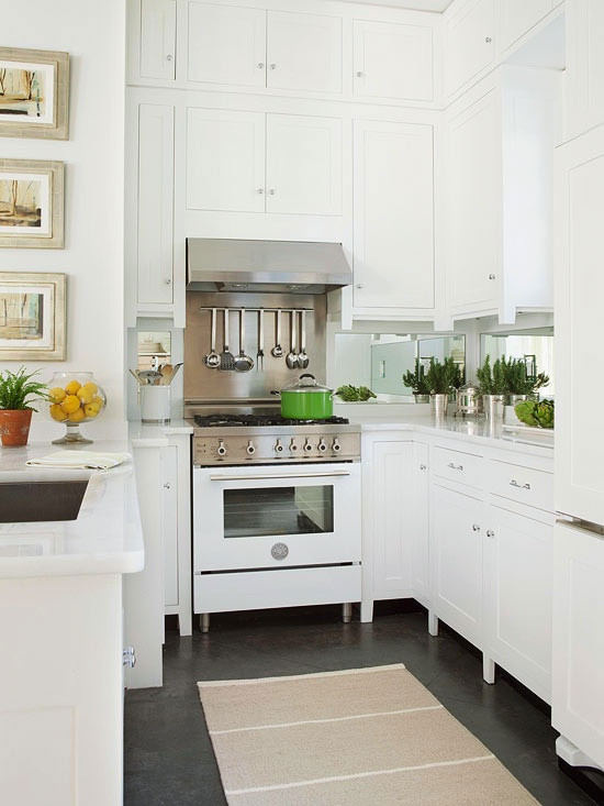 Mirrored kitchen backsplash transitional kitchen bhg Kitchen backsplash ideas bhg