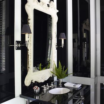 Black and White Bathroom, Eclectic, bathroom, Miles Redd