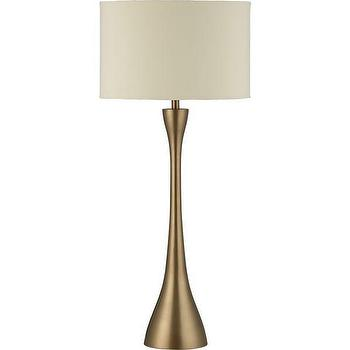 Lighting - Melrose Buffet Lamp | Crate and Barrel - brass lamp, mid-century style brass lamp, matte brass table lamp,