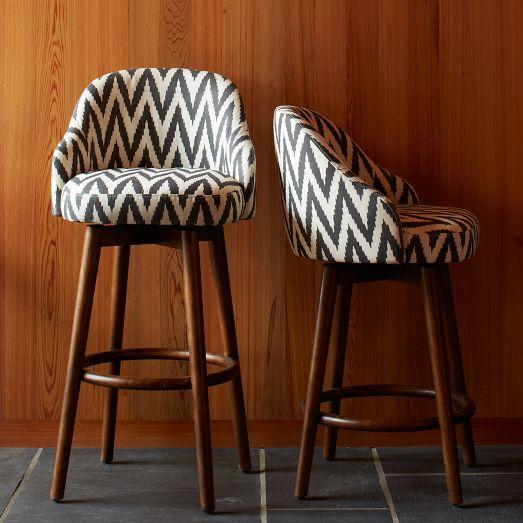 Saddle Bar Counter Stool Slate West Elm