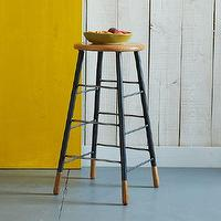 Seating - Gordon Bar Stool | west elm - modern bar stool, modern wood barstool, modern wood and iron bar stool,