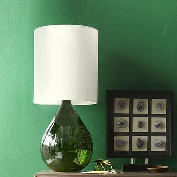 Glass Jug Table Lamp, Green, west elm