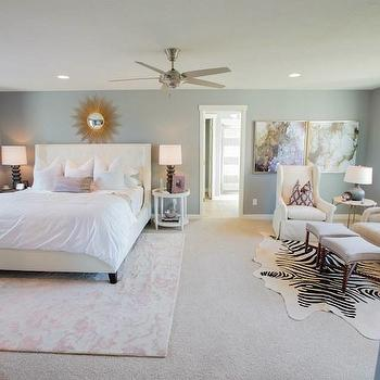 Henry Walker Homes Bedrooms Blue Walls Blue Wall Color Wall To Wall Carpet Carpet Beige