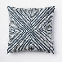 Pillows - Diamond Dot Crewel Pillow Cover - Blue Lagoon | west elm - blue and white pillow, blue diamond dot crewel pillow, blue and white crewel pillow,