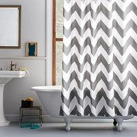 Bath - Zigzag Shower Curtain | west elm - gray and white zigzag shower curtain, gray and white chevron shower curtain, zigzag shower curtain, chevron shower curtain,
