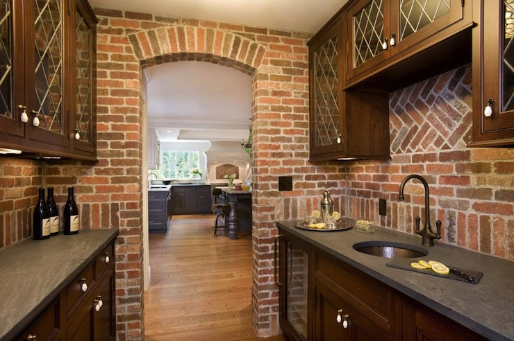 Brick Butlers Pantry Transitional Kitchen Meyer And