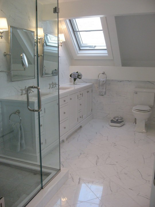 Attic Bathroom Transitional Bathroom Nastasi Vail Design