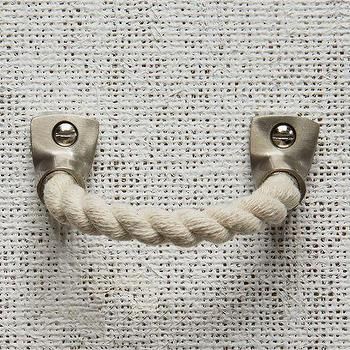 Decor/Accessories - Rope + Metal Handle - Cotton | west elm - rope handle, rope and metal handle, rope cabinet hardware,