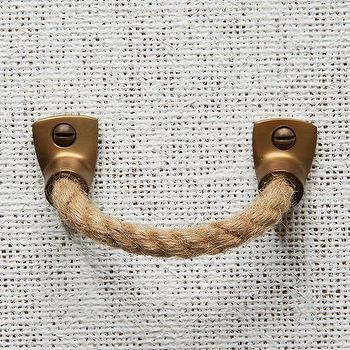 Decor/Accessories - Rope + Metal Handle - Jute | west elm - rope handle, jute rope handle, metal and rope handle,