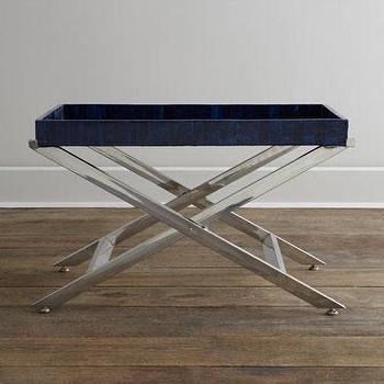 Tables - Oscar de la Renta Cadiz Tray Stand I Nieman Marcus - tray table, modern tray stand, tray stand,
