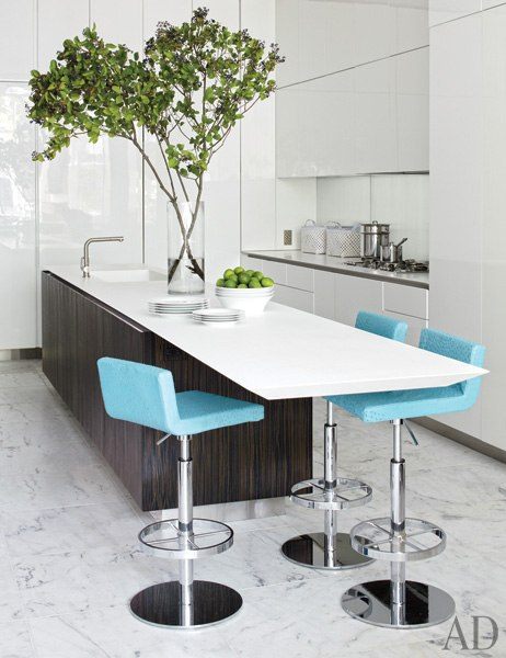 turquoise bar stools contemporary kitchen