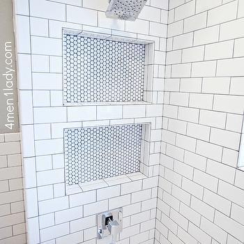 Shower Niche, Transitional, bathroom, 4 Men 1 Lady