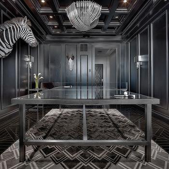 Black Paneled Room, Contemporary, basement, Ryan Street and Associates