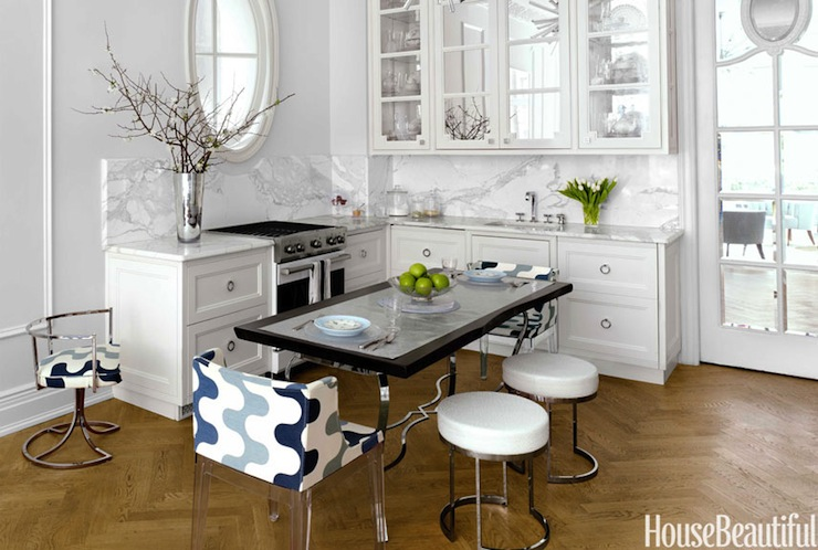 Glass Front KItchen Cabinets - Transitional - kitchen - Benjamin
