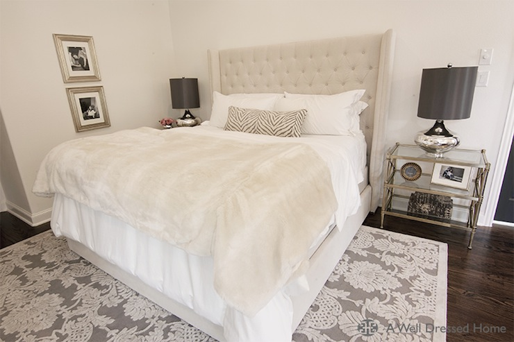 Vetvet Tufted Headboard Transitional Bedroom A Well