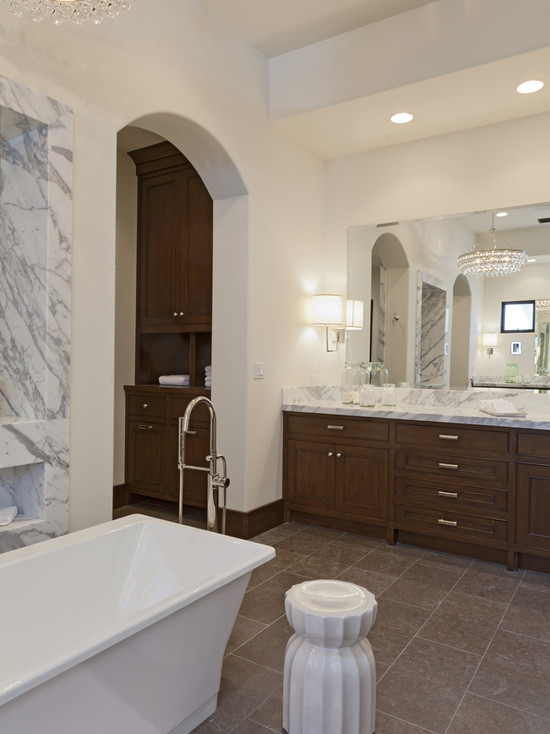 Center Tub - Transitional - bathroom - Kathleen DiPaolo Designs