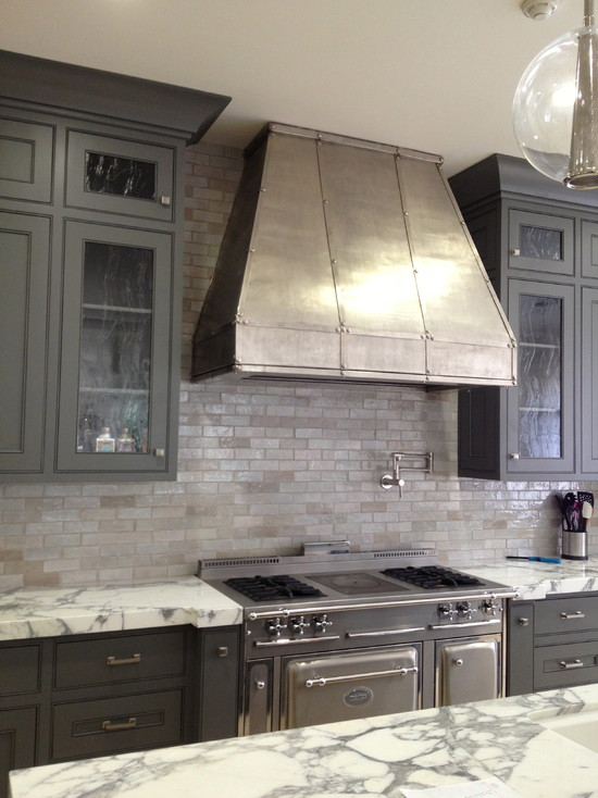 Zinc kitchen hood contemporary kitchen kathleen for Kitchen zinc design