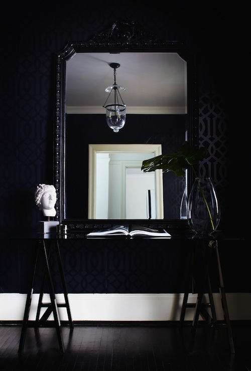 Black And White Foyer Contemporary Entrance Foyer