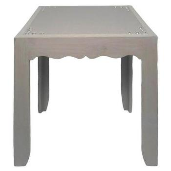 Tables - Threshold Accent Table - Gray I Target - gray accent table, gray side table, scalloped gray accent table,