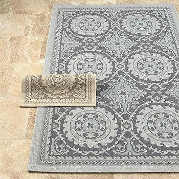 Rugs - Tristan Rug | Ballard Designs - medallion rug, blue medallion rug, beige medallion rug,