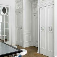 House Beautiful - entrances/foyers - foyer cabinets, light gray walls, light gray foyer walls, light gray paint, light gray paint, light gray paint colors,