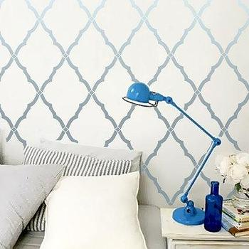 Wall Stencil Moroccan Lattice Trellis Allower by OMGstencils I Etsy