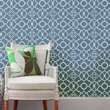 Art/Wall Decor - Wall Stencil Lattice Trellis Quatrefoils Allower by OMGstencils I Etsy - trellis wall stencil, quatrefoil wall stencil, lattice wall stencil,