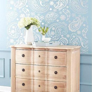 Art/Wall Decor - Wall Stencil Paisley Flourish Lace Pattern Wall by OMGstencils I Etsy - paisley wall stencil, paisley lace wall stencil,