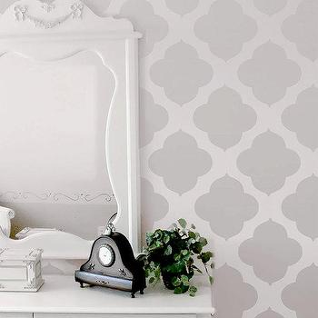 Wall Stencil Moroccan Allower Pattern Wall Room by OMGstencils I Etsy