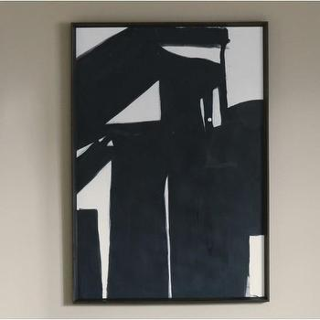 Black Road 2 Wood Framed Print, DwellStudio