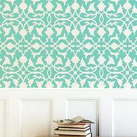 Art/Wall Decor - Wall Stencil Lattice Trellis Allower Pattern Wall by OMGstencils I Etsy - trellis wall stencil, lattice wall stencil, flower trellis wall stencil,