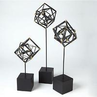 Decor/Accessories - Tilted Cube Sculpture | DwellStudio - modern cube sculpture, cube sculpture, modern sculpture,