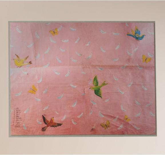 paule marrot feathers acrylic shadowbox framed print