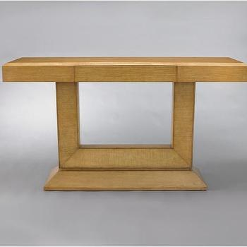 Tables - Concorde Console - French Oak | DwellStudio - vintage french style console, 1940's style french oak console,
