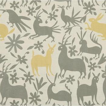 Fabrics - VERACRUZ-CITRINE - Fabric | DwellStudio - modern gray and yellow animal print fabric, modern animal print fabric, modern gray and yellow animal patterned fabric,