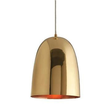 Lighting - Brass Dome Pendant - Large | DwellStudio - modern brass pendant, brass dome pendant, brass pendant light,