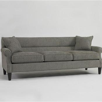 Seating - Bancroft Sofa | DwellStudio - gray sofa, dark gray sofa, dark gray modern sofa,