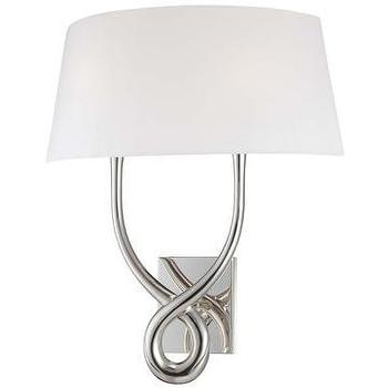 Lighting - George Kovacs Contemporary Silver 2-Light Wall Sconce I LightsOnline.com - contemporary silver 2 light wall sconce, silver wall sconce, silver two arm wall sconce,