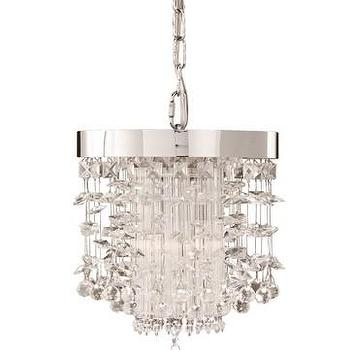 Lighting - Uttermost Fascination Crystal Mini Pendant I LightsOnline.com - mini crystal pendant, modern crystal mini pendant, crystal strands mini pendant,