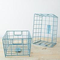 Decor/Accessories - Garnet Hill Wire Storage Baskets I Garnet Hill - blue wire storage baskets, blue wire baskets, blue storage baskets,