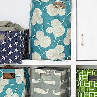 Decor/Accessories - Printed Canvas Storage Bins I Garnet Hill - whale print canvas storage bin, floral canvas storage bin, star print canvas storage bin,