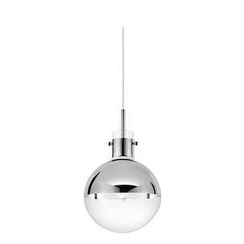 "Lighting - Sonneman Apollo 10"" Pendant I Lightsonline.com - modern polished chrome pendant, mercury glass and chrome pendant, modern pendant lighting,"