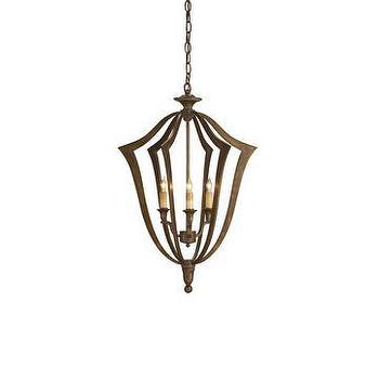 Lighting - Currey & Company Protocol Small Chandelier I LightsOnline.com - verdigris chandelier, contemporary verdigris chandelier, bronze verdigris chandelier,